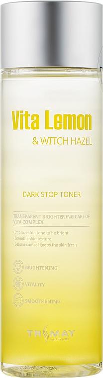Осветляющий тонер для лица, шеи и декольте - Trimay Vita Lemon Witch Hazel Dark Stop Toner