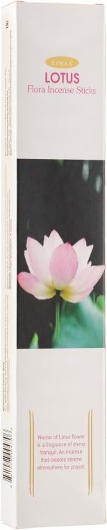 Ароматические палочки Лотос - Synaa Flora Incense Sticks Lotus
