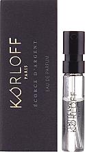 Духи, Парфюмерия, косметика Korloff Paris Ecorce D'Argent - Парфюмированная вода (пробник)