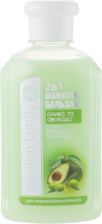 "Шампунь-бальзам ""Олива и авокадо"" - Pirana MODERN FAMILY"