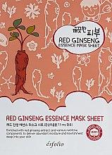 Духи, Парфюмерия, косметика Тканевая маска c красным женьшенем - Esfolio Pure Skin Red Ginseng Essence Mask Sheet