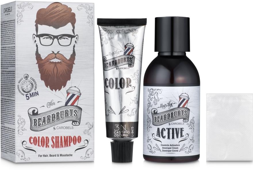 Шампунь камуфлирующий для головы, бороды и усов - Beardburys Color Shampoo