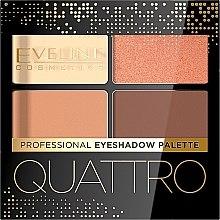 Духи, Парфюмерия, косметика Тени для век - Eveline Cosmetics Quattro Professional Eyeshadow Palette