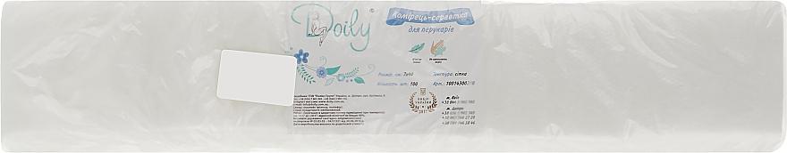 Воротник-салфетка для парикмахеров из спанлейса, 7*40 сетка - Doily