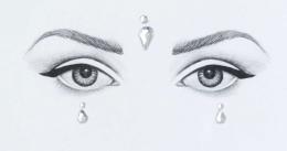 Духи, Парфюмерия, косметика Клеящиеся кристаллы для лица - Miami Tattoos Crystalzzz Drops In Silver