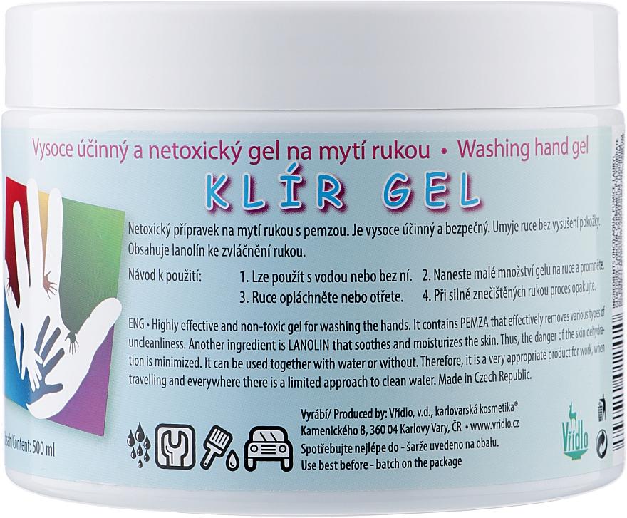 Био-гель для мытья рук с пемзой и ланолином - Vridlo Klir Gel