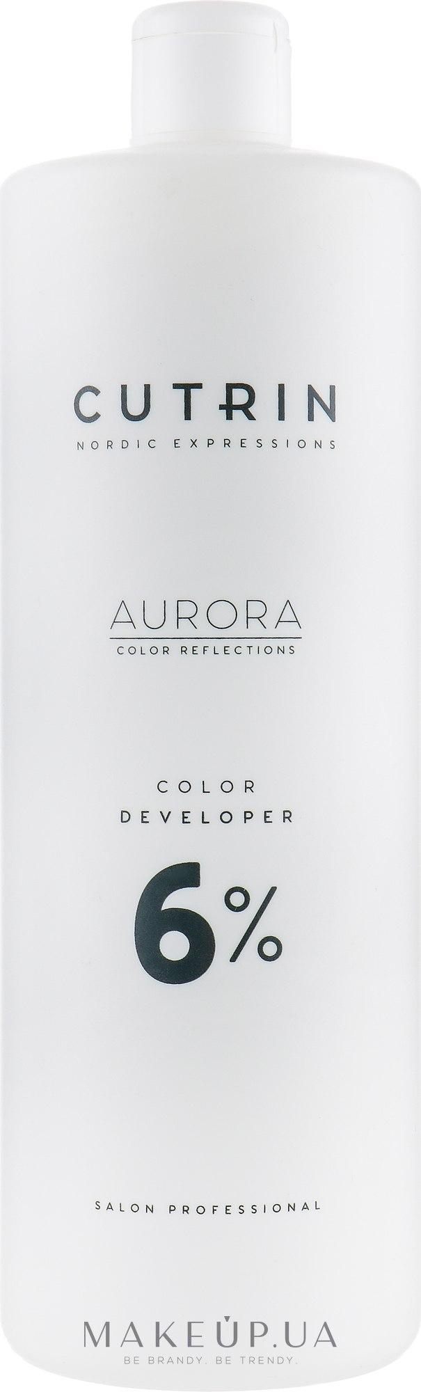 Окислитель 6% - Cutrin Aurora Color Developer — фото 1000ml