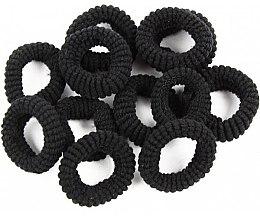 Духи, Парфюмерия, косметика Резинки для волос маленькие, черные, 12 шт - Donegal Ponytail Holder