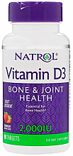 Духи, Парфюмерия, косметика Витамин Д3, 2000 МЕ, клубника - Natrol Vitamin D3 Bone & Joint Health