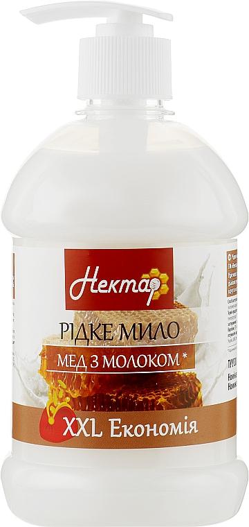 """Жидкое мыло с дозатором """"Мед с молоком"""" - Aqua Cosmetics Нектар"""