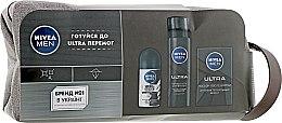 Парфумерія, косметика Набір - Nivea Ultra 2 (ash/lot/100ml + sh/foam/200ml + deo/50ml + bag)