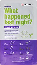 Духи, Парфюмерия, косметика Тканевая восстанавливающая маска для лица - Leaders Daily Wonders After Party Mask