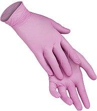 Духи, Парфюмерия, косметика Одноразовые перчатки нитриловые без пудры, размер L, розовые - XoKo