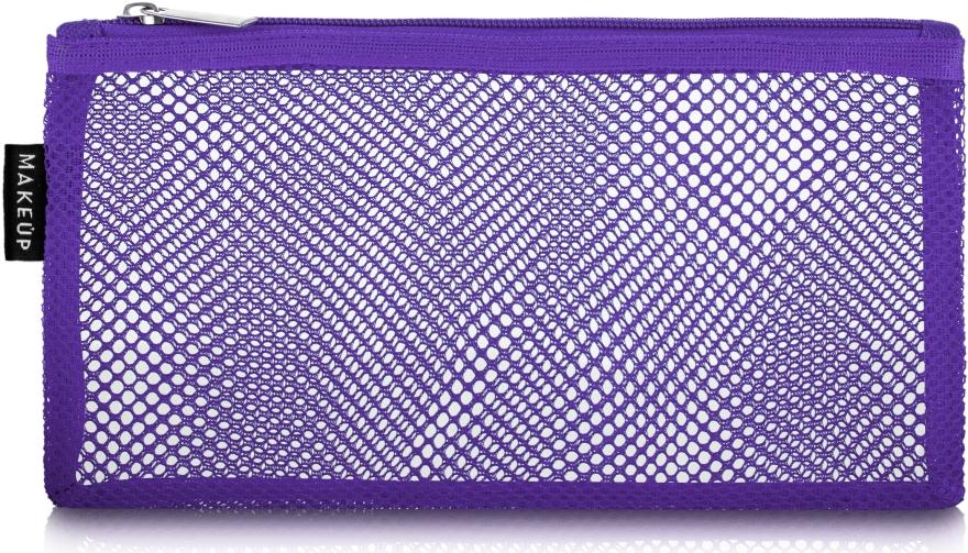 """Косметичка дорожная, фиолетовая """"Violet mesh"""", 22 x 10см - Makeup"""