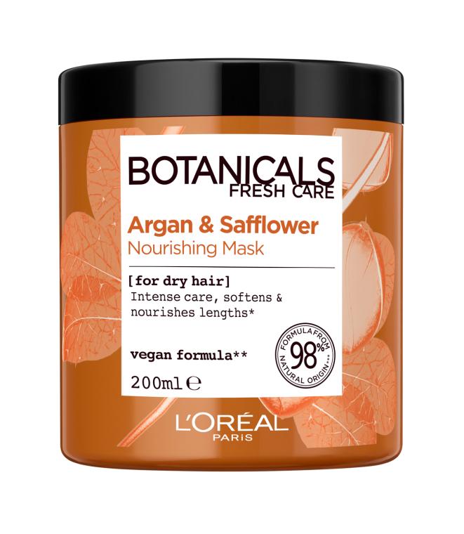 """Маска """"Арган и Дикий Шафран, Экстракт Питание"""" для сухих волос - L'Oreal Paris Botanicals Fresh Care Argan & Safflower Nourishing Mask"""