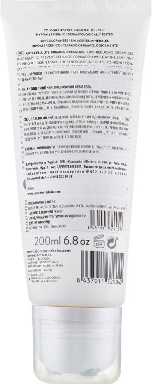"""Антицелюлітний підтягуючий крем-гель """"Система ліпоредукційного масажу"""" - Babe Laboratorios Anti-Cellulite Firming Cream-Gel — фото N2"""