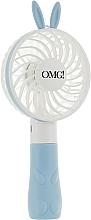 Духи, Парфюмерия, косметика Ручной вентилятор для сушки масок, голубой - Double Dare Mini Beauty Fan Blue