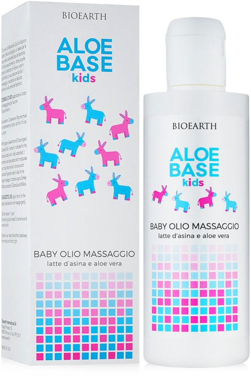 Детское массажное масло - Bioearth Aloebase Kids Baby Massage Oil With Aloe