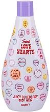 Духи, Парфюмерия, косметика Гель для душа - Swizzels Love Hearts Juicy Blueberry Body Wash