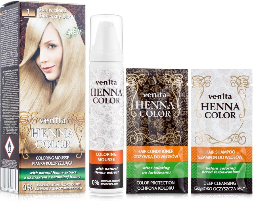 Краска-мусс с экстрактом хны - Venita Henna Color Coloring Mousse