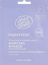 Духи, Парфюмерия, косметика Маска тканевая для лица - BodyBoom FaceBoom SuperStar Face Sheet Mask