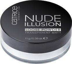 Духи, Парфюмерия, косметика Рассыпчптая пудра для лица, прозрачная матирующая - Catrice Nude Illusion Loose Powder