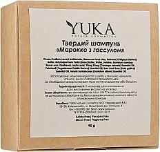 """Духи, Парфюмерия, косметика Твердый шампунь для волос """"Марокко с гассулом"""" - Yuka"""