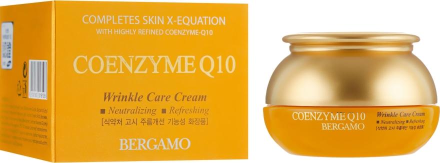 Регенерирующий крем от морщин с коэнзимом Q10 и гиалуроновой кислотой - Bergamo Coenzyme Q10 Wrinkle Care Cream