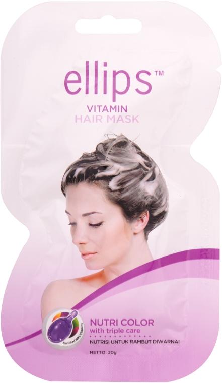 "Маска для волос ""Сияние цвета"" - Ellips Vitamin Hair Mask Nutri Color"