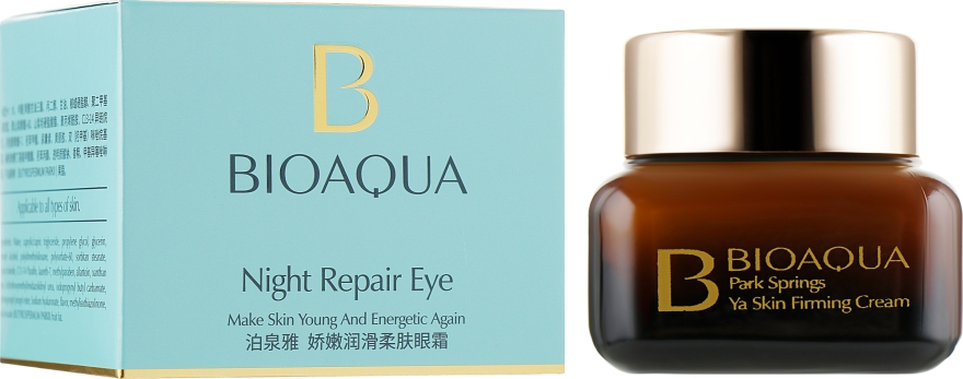 Восстанавливающий ночной крем для век - Bioaqua Night Repair Eye Cream
