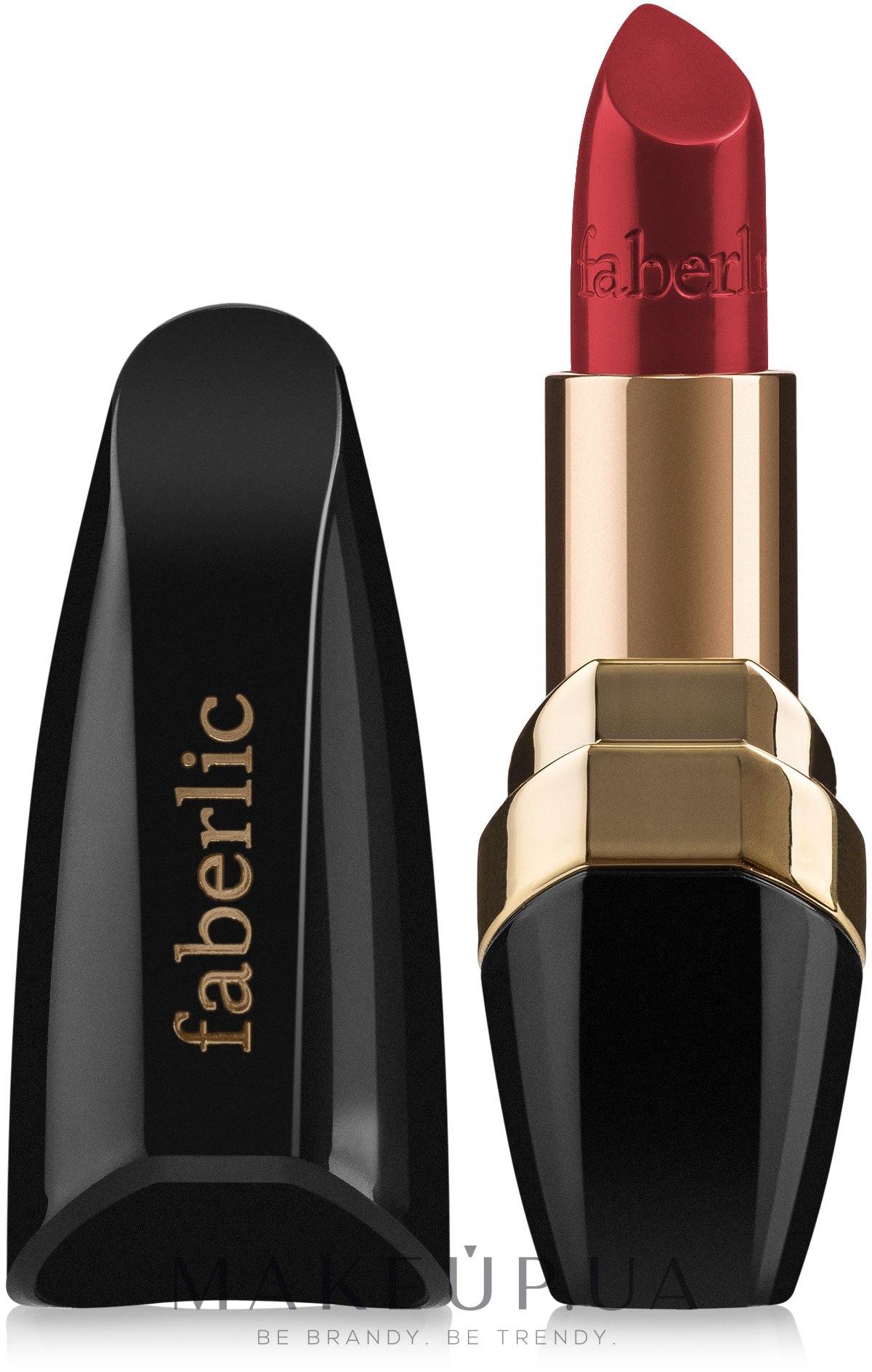 """Сатиновая губная помада """"Сияние в цвете"""" - Faberlic Lipstick — фото 4582 - Трехмерный красный"""
