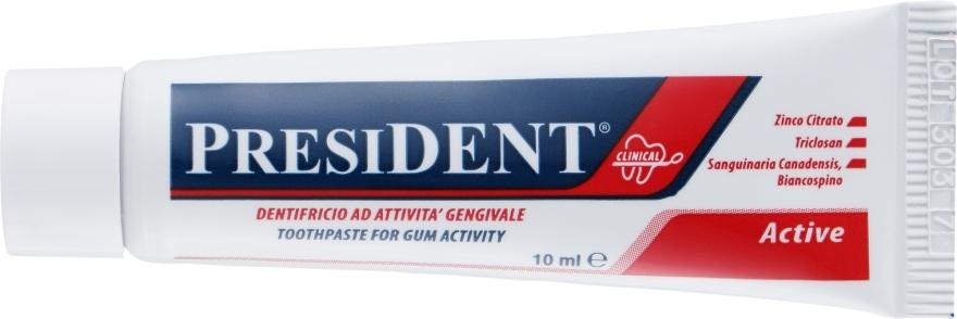 """Лечебная зубная паста """"Active Clinical"""" - PresiDENT (мини) — фото N1"""