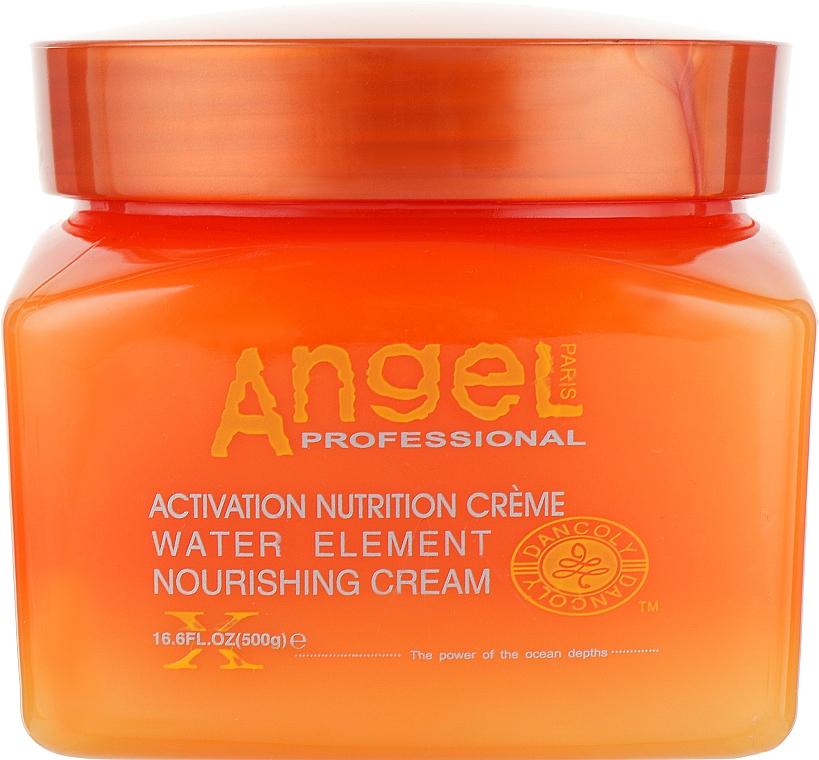 Питательный крем-маска для восстановления сухих и поврежденных волос - Angel Professional Paris Water Element Nursing Cream