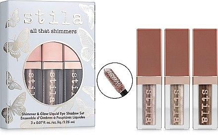 """Набор жидких теней для век """"All that shimmers"""" - Stila Shimmer & Glow Liquid Eye Shadow Set (eyesh/3x2.25ml) — фото N1"""