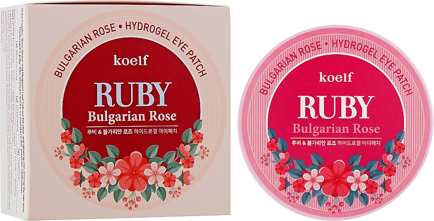 Гидрогелевые патчи для глаз с рубином и болгарской розой - Petitfee&Koelf Ruby & Bulgarian Rose Eye Patch
