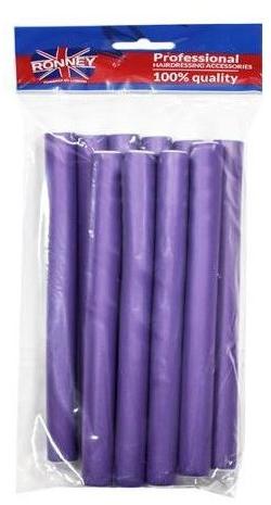 Профессиональные гибкие бигуди 20/210, фиолетовые - Ronney Professional Flex Rollers