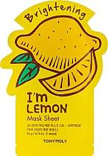 Листовая маска для лица - Tony Moly I'm Real Lemon Mask Sheet — фото N1