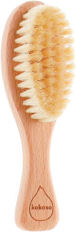 Деревянная щетка для волос из натуральной щетины - Kokoso Baby Natural Baby Hairbrush