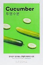 Духи, Парфюмерия, косметика Маска для лица с экстрактом огурца - Missha Airy Fit Cucumber Sheet Mask