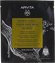 Духи, Парфюмерия, косметика Тканевая лифтинг-маска для лица - Apivita Express Beauty Tissue Face Mask Mastic Firming & Lifting Effect