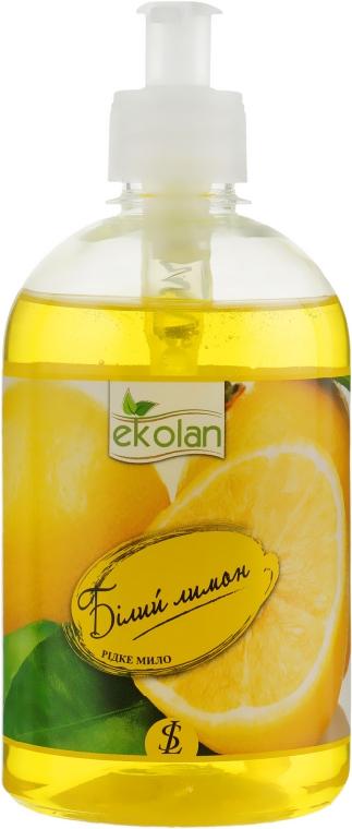 """Жидкое мыло """"Белый лимон"""" с дозатором - Ekolan"""