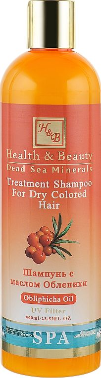 Шампунь для сухих окрашенных волос с маслом облепихи - Health And Beauty Obliphicha Treatment Shampoo for Dry Colored Hair