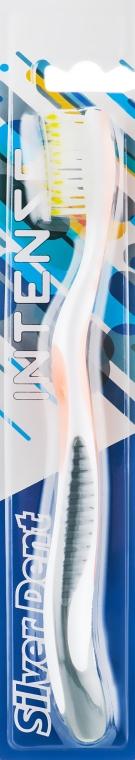 Зубная щетка, средней жесткости, серо-оранжевая - Modum Silver Dent Intense