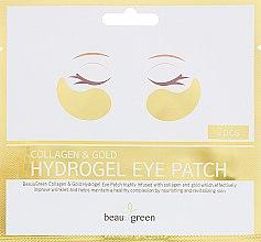 Духи, Парфюмерия, косметика Гидрогелевые патчи для глаз - BeauuGreen Collagen & Gold Hydrogel Eye Patch