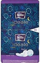 Духи, Парфюмерия, косметика Прокладки Ideale Night StayDrai, 14 шт - Bella