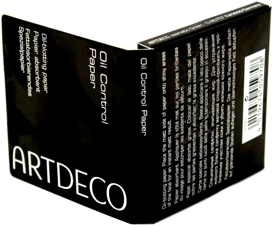 Салфетки абсорбирующие - Artdeco Oil Control Paper (тестер)