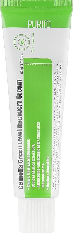 Успокаивающий крем для восстановления кожи лица с центеллой - Purito Centella Green Level Recovery Cream