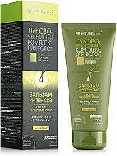 Парфумерія, косметика Бальзам-інтенсив проти випадіння волосся - Nature.med Цибульно-часниковий комплекс для волосся