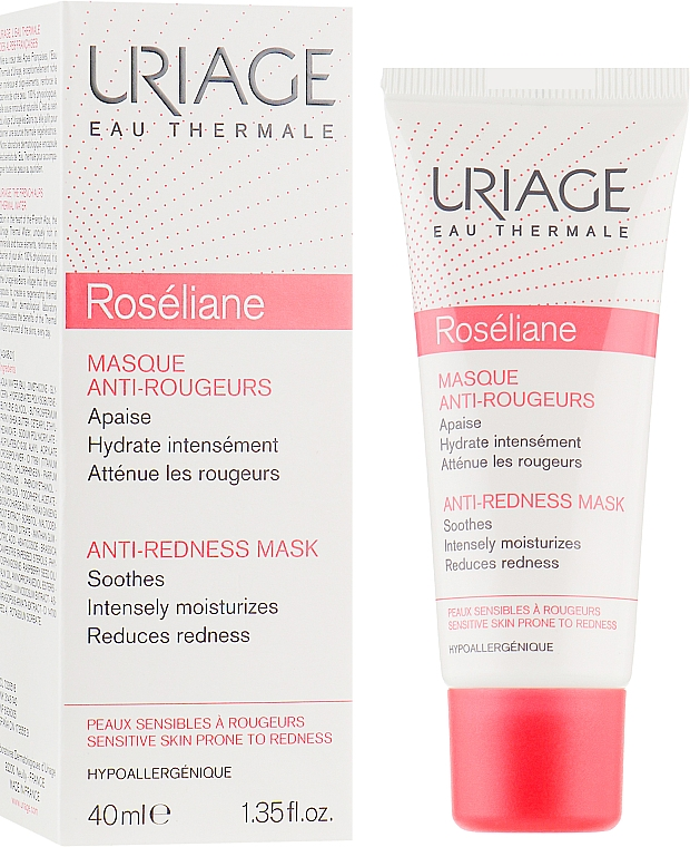 Маска для лица против покраснений - Uriage Sensitive Skin Roseliane Mask