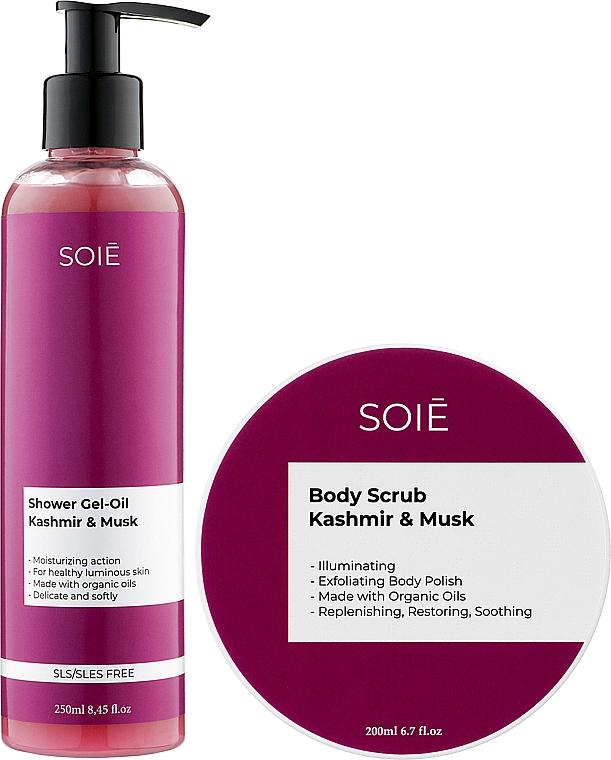 Набор - Soie Kashmir & Musk S (show/gel/250ml + b/scrub/200ml)
